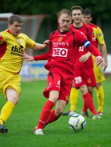 Airbus have swooped for Newtown captain Andy Jones (Newtown official site).